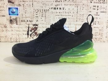 more photos 2376c 5291a Nike Air Max 270 Running Shoes Flyknit Black Green 2018 Latest Styles AH8050 -030