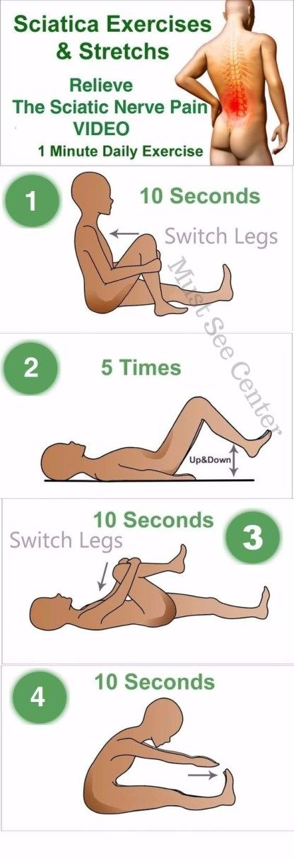 6 Of The Best Exercises For Sciatica And Lower Back Pain - Must See Center