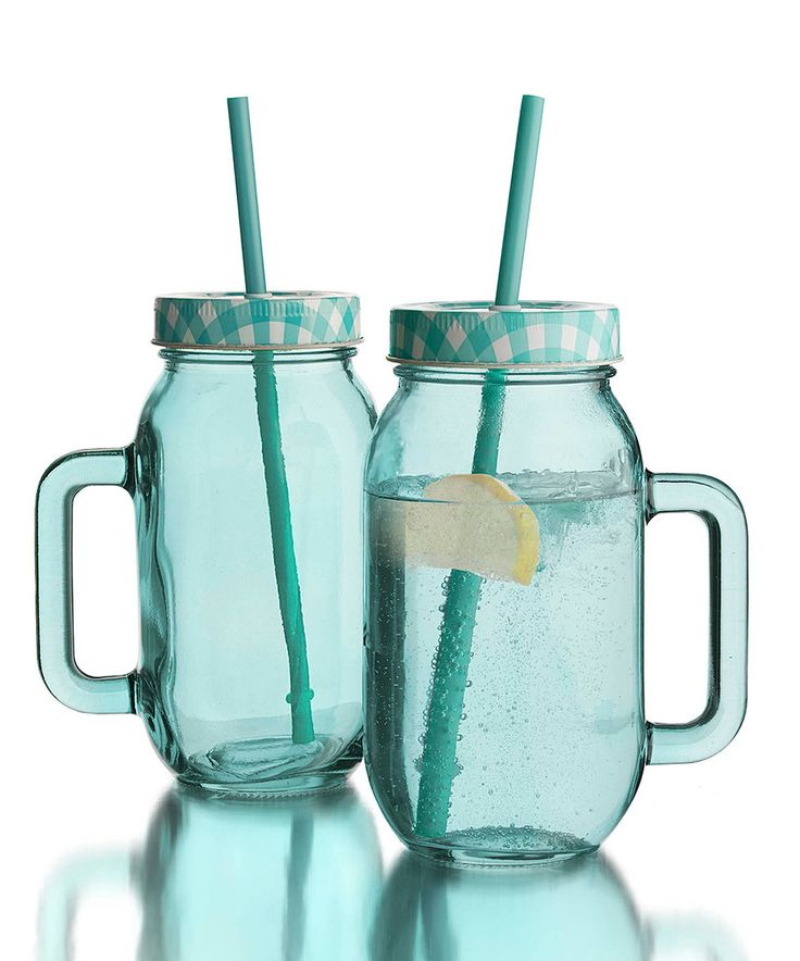 Take a look at this Blue 24-Oz. Tumbler Jar - Set of Two today!