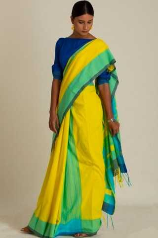 c803bb428 Elegant Yellow Colour Soft Silk Saree For Women