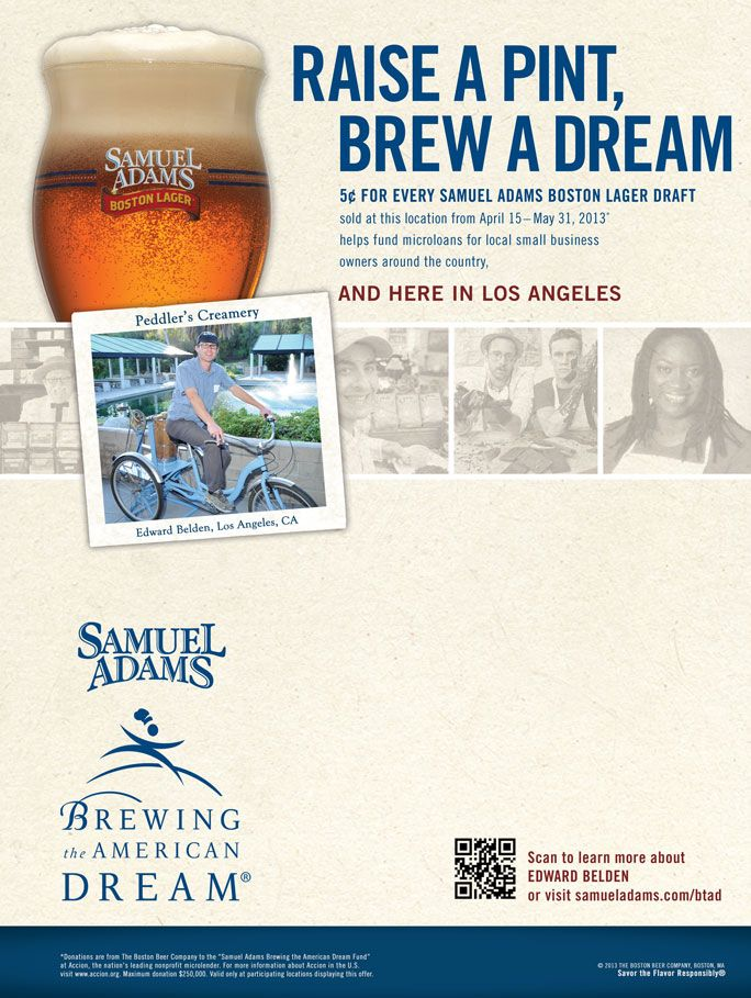 Q&A with Small Business Owner & Brewing the American Dream Loan Recipient Edward Belden of Peddler's Creamery - The Samuel Adams Blog #ShopSmall #BTAD