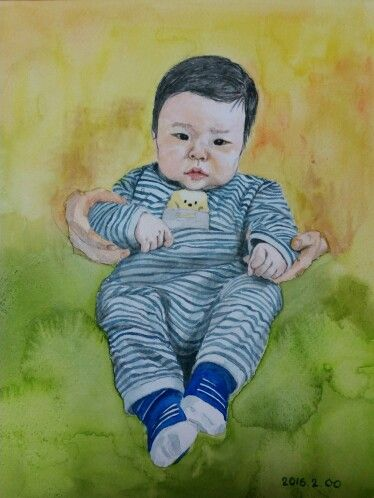 baby  watercolor
