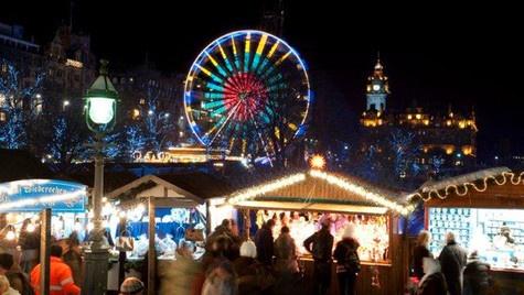 Christmas Market in Edinburgh, Scotland