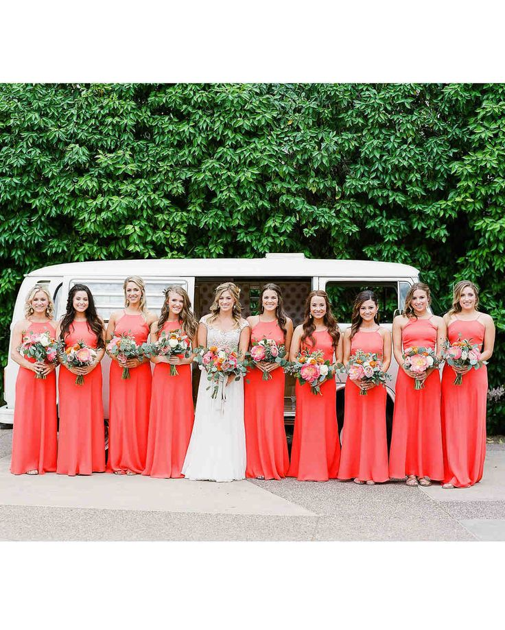 Save this for coral bridesmaid dress inspiration.
