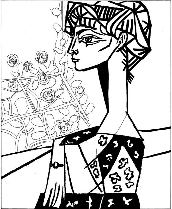 "Pablo Picasso painting ""The Weeping Woman"" - Art Therapy Coloring Canvas - Canvas Coloring on stretcher!"