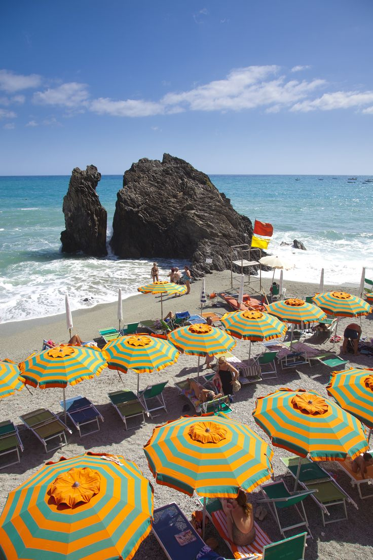 Home to the Cinque Terre's only sand beach, Monterosso al Mare is the spot to post up for a long day of sunbathing on the Italian Riviera.