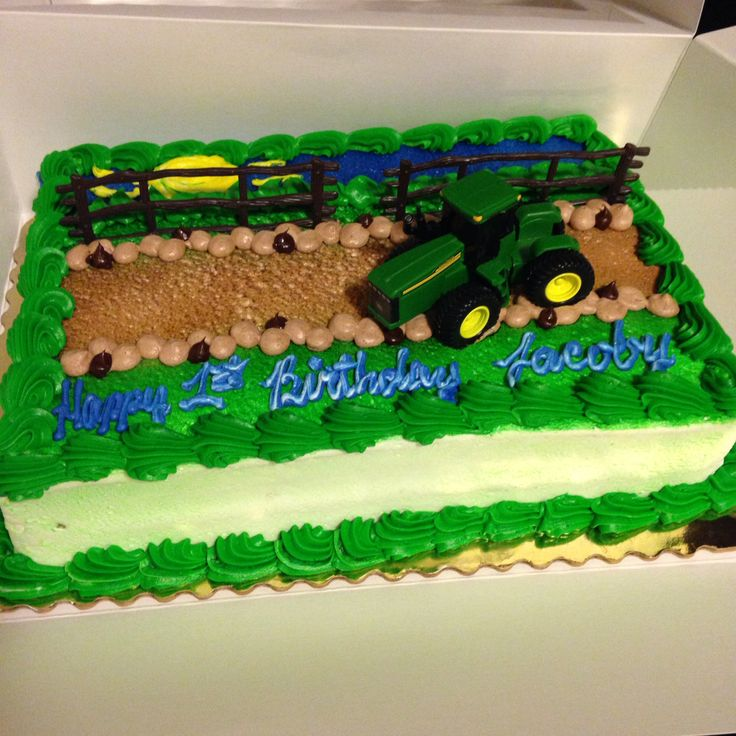 John Deere Birthday Cake From Publix Super Easy And A Toy Story