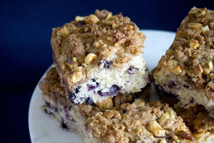 Blueberry Coffee Cake | OatandSesame.com