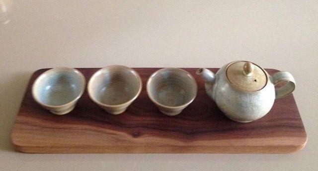 Walnut wooden tray