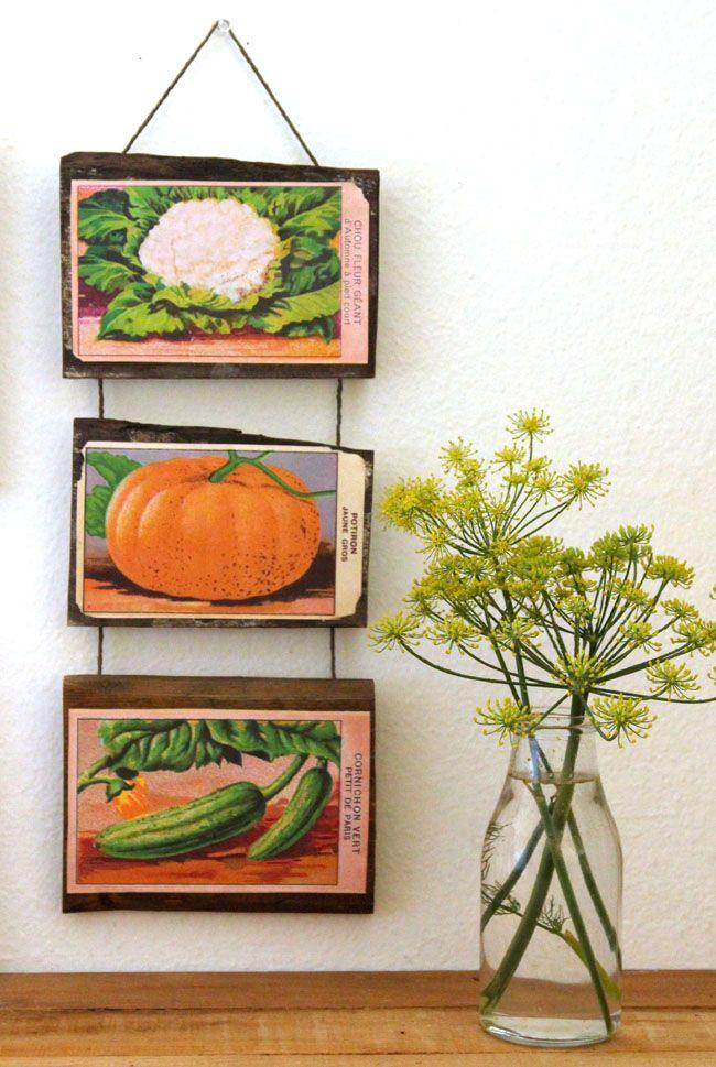 Printable livre Semente francês Vintage pacotes Wall Decor