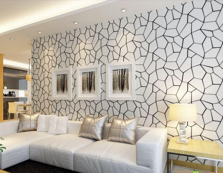 On from 48 9 wallpaper pinterest for Papel mural living comedor