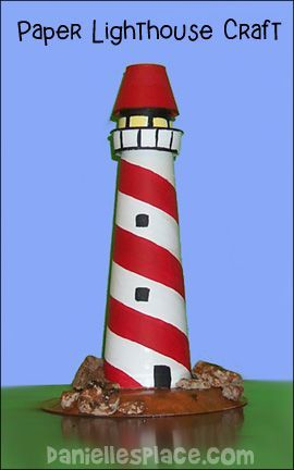 Paper Lighthouse Craft From Www Daniellesplace Com