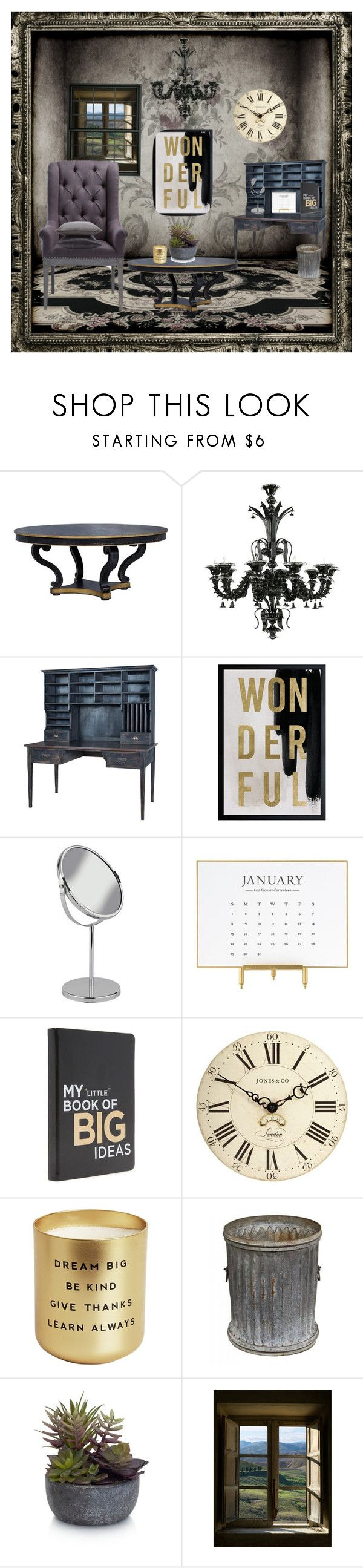 """Hideaway"" by evangel-dccx ❤ liked on Polyvore featuring interior, interiors, interior design, home, home decor, interior decorating, Cyan Design, Oliver Gal Artist Co., Sugar Paper and American Vintage"