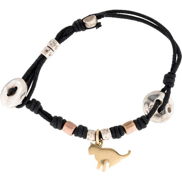 Pre-owned Dodo Cat Charm Bracelet (£265) ❤ liked on Polyvore featuring jewelry, bracelets, 18 karat gold jewelry, cat bangle, dodo charms, brown jewelry and charm bracelet bangle