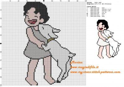 Schema punto croce Heidi e Fiocco di Neve 100x100 7 colori.jpg (2.15 MB) Mai osservato
