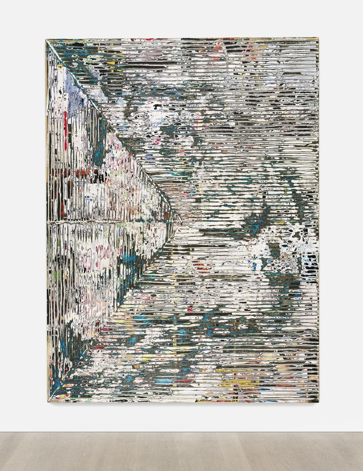 Mark Bradford B. 1961 SMEAR signed, titled and dated 2015 on the reverse mixed media and collage on canvas 96 x 72 in. 243.8 x 182.9 cm.
