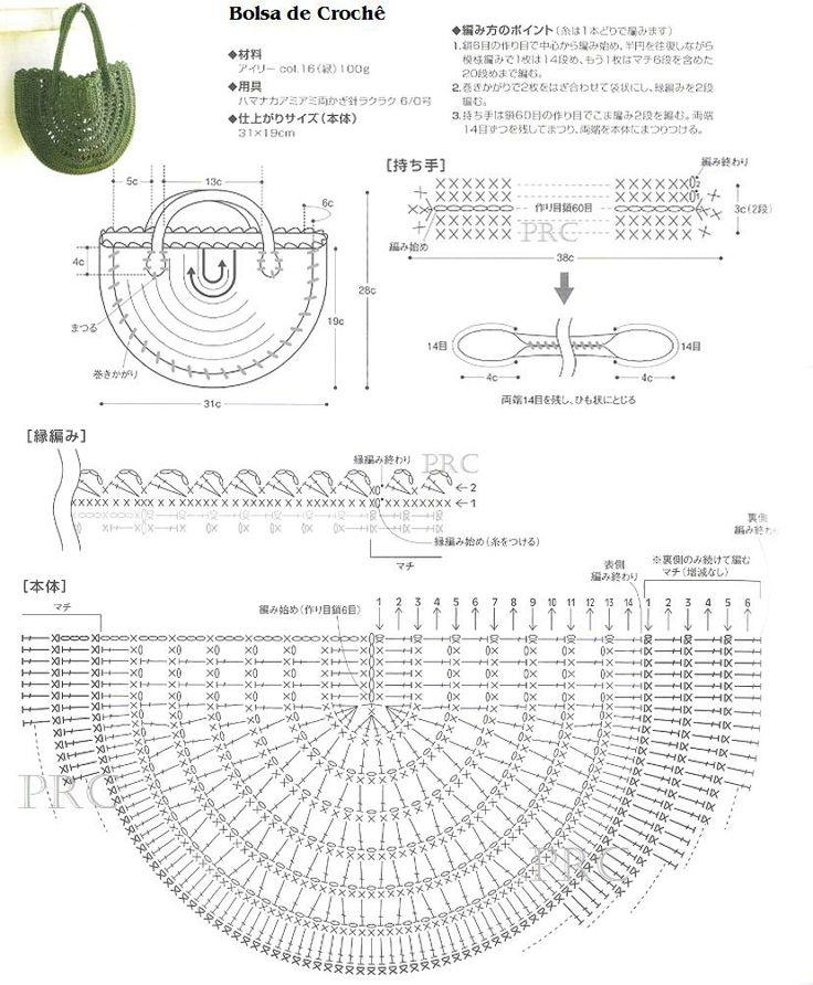 Free Half Moon Crochet Purse PatternDiagramtranslate