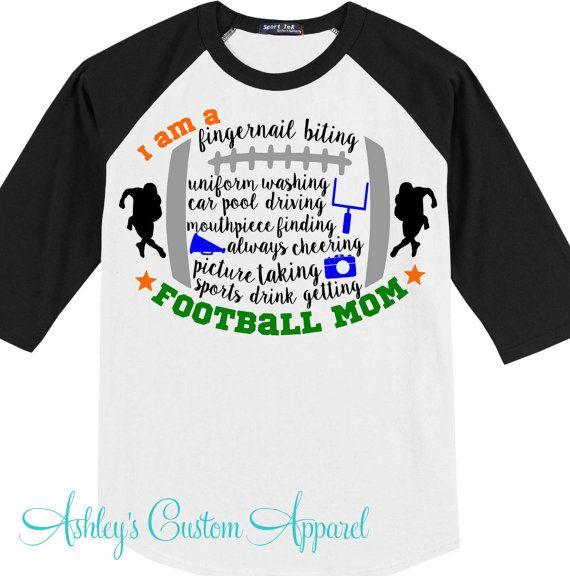 Football Mom Shirt - Sports Mom - Proud Football Mom - Football Shirt - Sport Mom - Team Mom - Football Mom - Football Shirt - Sports Shirt  by AshleysCustomApparel