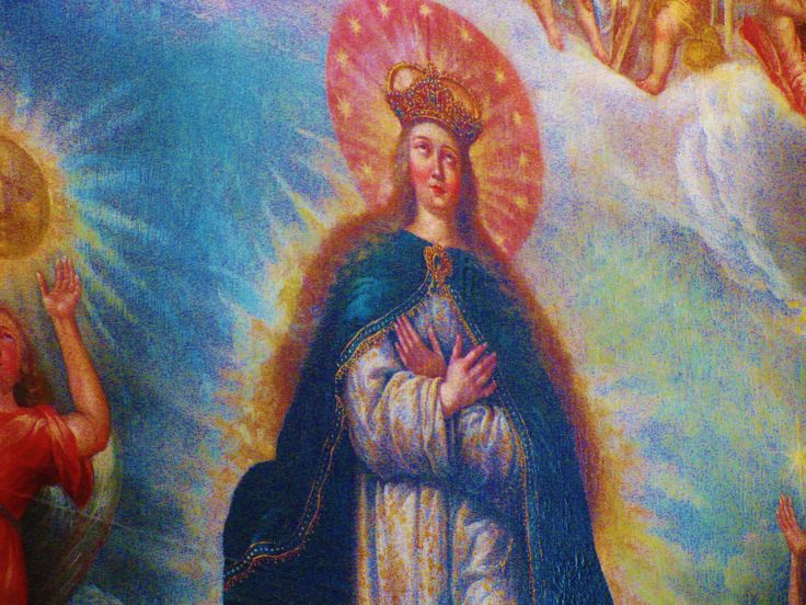 Painting of Our Lady of the Assumption, Rosary Chapel, Santo Domingo Church, Puebla. MADONNAS OF MEXICO