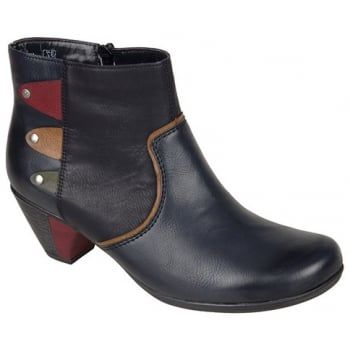 This is a stylish soft leather ankle boot with side zip for ease of entry and outer zip for decoration. An ideal everyday boot with a perfect heel for all day wear. Anti-stress by name, Anti-stress by nature. http://www.marshallshoes.co.uk/womens-c2/rieker-womens-eagle-navy-multi-ankle-boot-with-side-zip-y7273-14-p3908