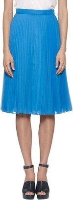 ShopStyle: Whistles Lottie Pleated Skirt, Blue