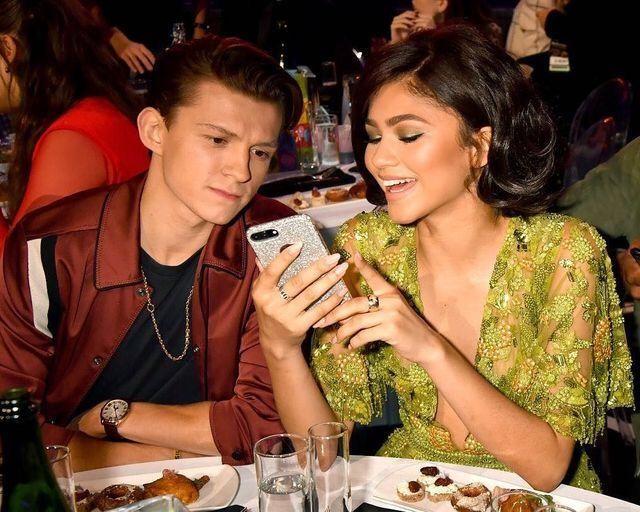 Tom and Zendaya at the MTV awards