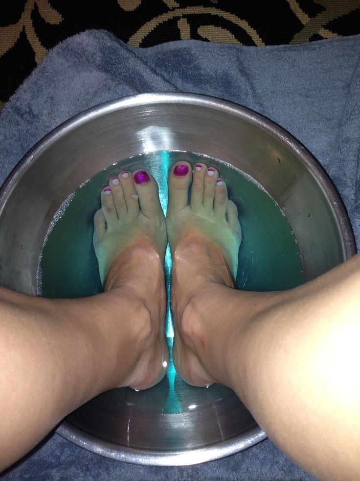 Listerine Foot Soak... Tried it... Loved it... TOTALLY recommend it! 1 cup listerine, 1 cup white vinegar and 2 cups boiling water (I added a cup of cool water to tolerate the heat at first!) I also used a pumice stick towards the end of the 10 minutes. A-MA-ZING -Kim