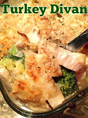 Turkey Divan - A great healthy, creamy casserole - you won't even know it's lightened up!