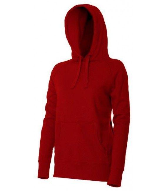 Waterafstotende hoodie mannen rood