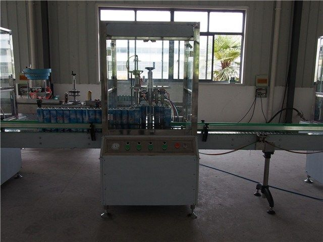 aerosol filling machine used     More: https://www.aerosolmachinery.com/sale/aerosol-filling-machine-used-3.html