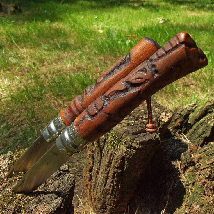 """Polubienia: 23, komentarze: 1 – Fabryka Rzeczy Fajnych (@frf.com.pl) na Instagramie: """"Two Opinel knives with handles modified by #FRF #fabrykarzeczyfajnych #knifemaking #knife #handle…"""""""