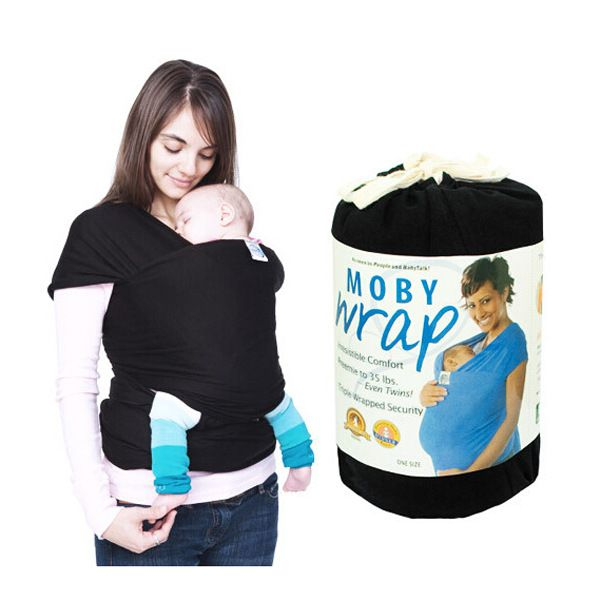 Mommy Elastic Cotton Newborn Shoulders Backpack Solid Color Baby Carrier Wrap Infant Hold Sling Belt