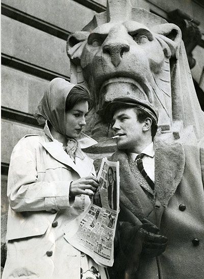 #Sixties | Shirley Anne Field and Albert Finney in Saturday Night And Sunday Morning, 1960