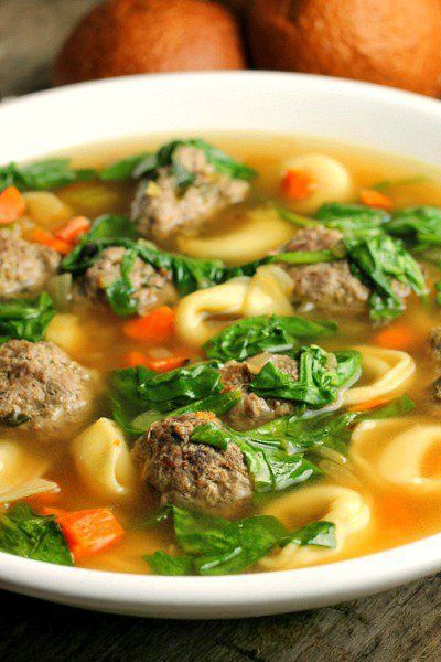 Meatball Tortellini Soup (uses chicken broth; maybe I can use beef broth)