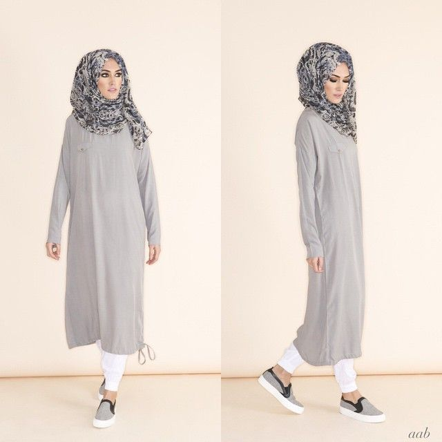 rriving this week - Casual Midi Grey Pair with Blue Venezia Chiffon Hijab & White Ankle Grip Trousers Shop online www.aabcollection.com #aablondon #aabcollection #aabnewarrivals #Aabflagshipstore #glaciergrey #SS15 #spring