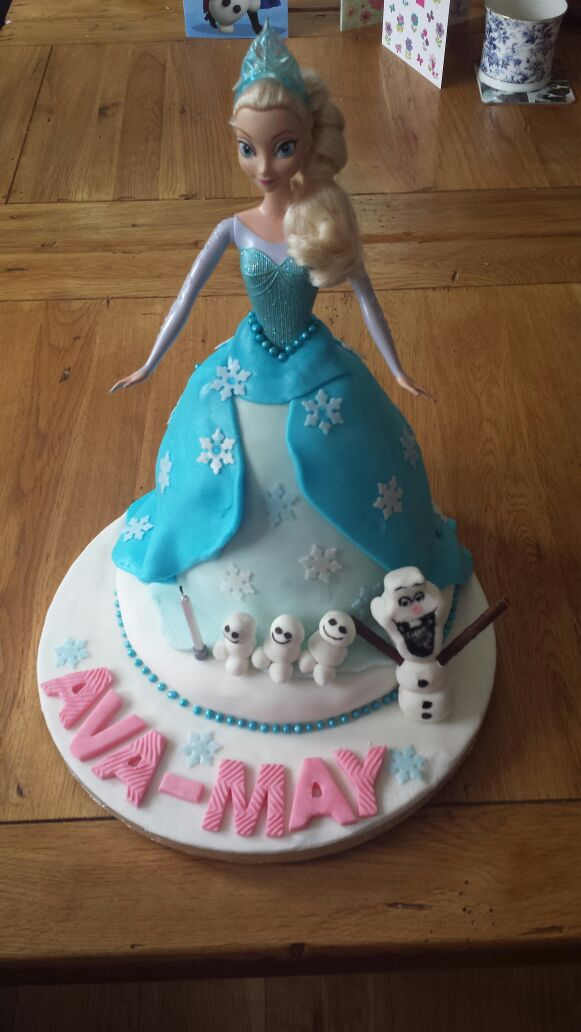 Elsa cake for Ava-May's 4th birthday