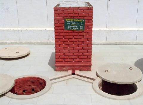 Sulabh Two-Pit Pour-Flush Compost Toilet