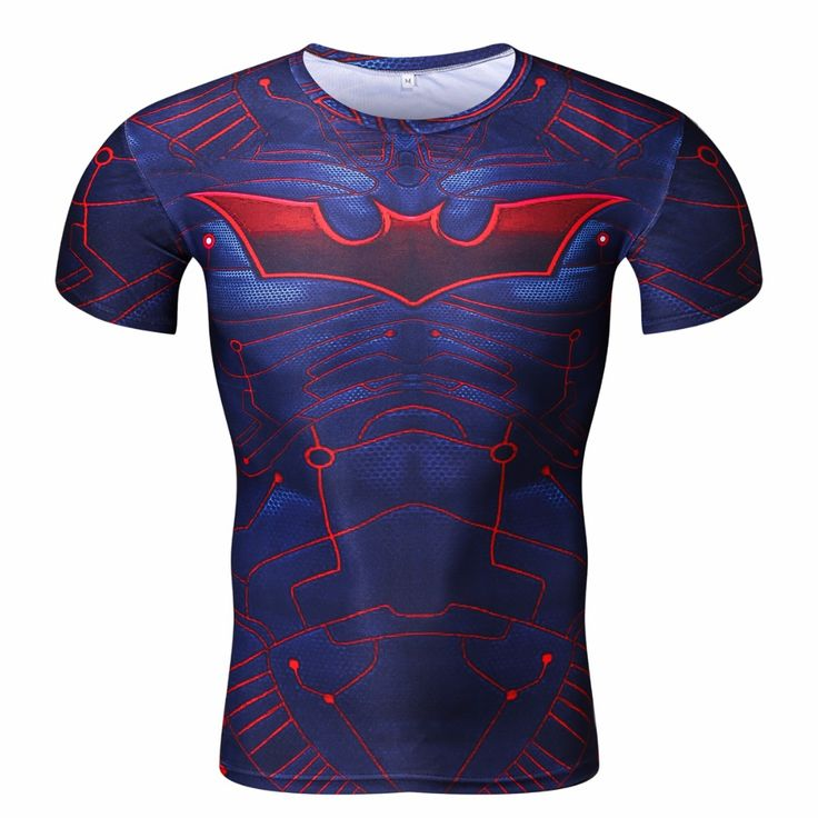 Men's Avenger Alliance Batman 3D Print T-shirt Seamless Pattern Fitness Crossfit Stretch Muscle Breathable Compression T shirts