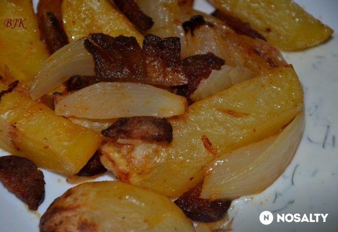 NOSALTY: ~~ Tepsis krumpli kapros-tejfölös mártással