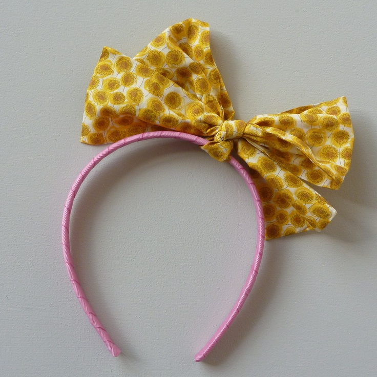 Big Liberty Bow Hair Band £15. New Liberty prints for summer.  www.milktwobunnies.com