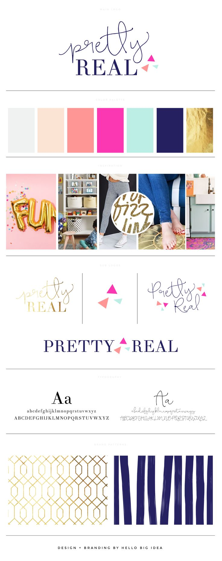 Pretty Real Blog - Brand + Logo Design by Hello Big Idea (a unique design boutique)