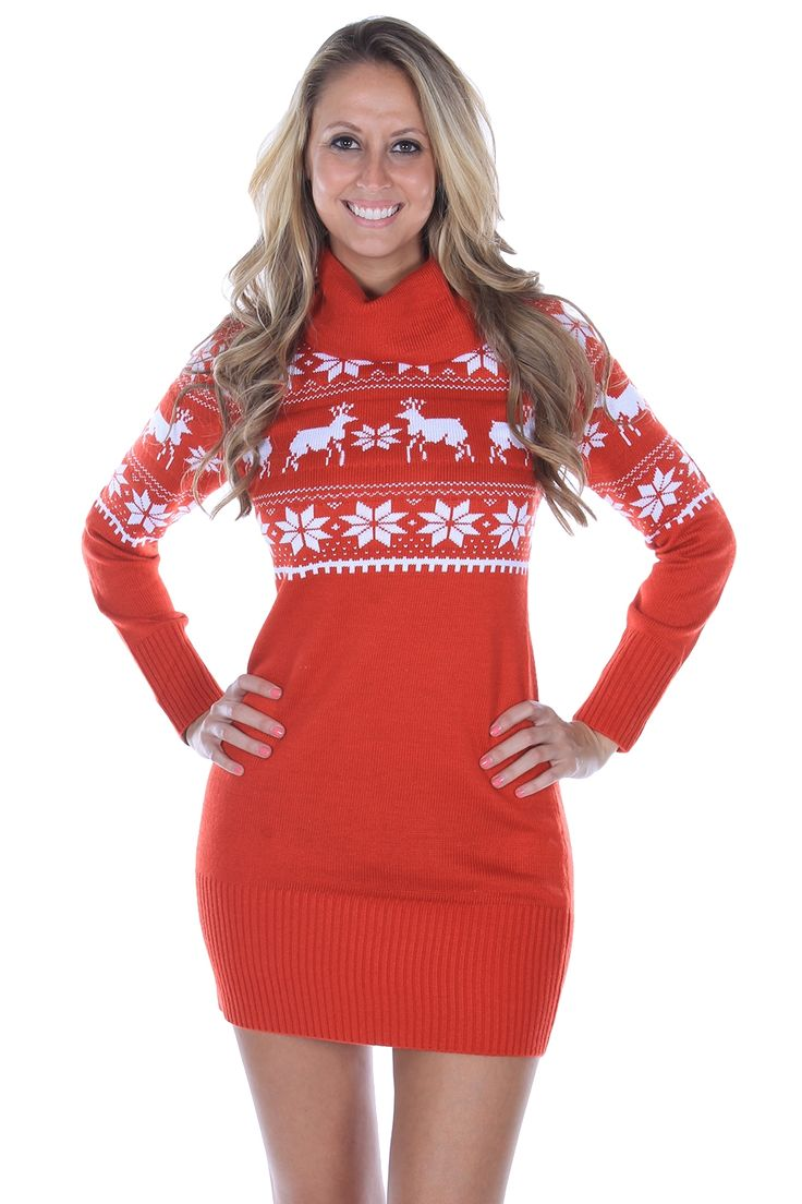 While most of the apparel on Tipsy Elves might not be appropriate for every occasion, the Fair Isle Sweater Dress is definitely an exception.