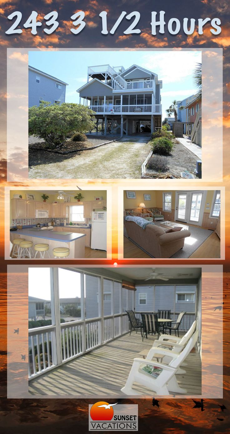 This 3 bedroom vacation rental home in Sunset Beach, NC sleeps 10, has great views, and features wonderful decks. Now booking for SUMMER 2018!!