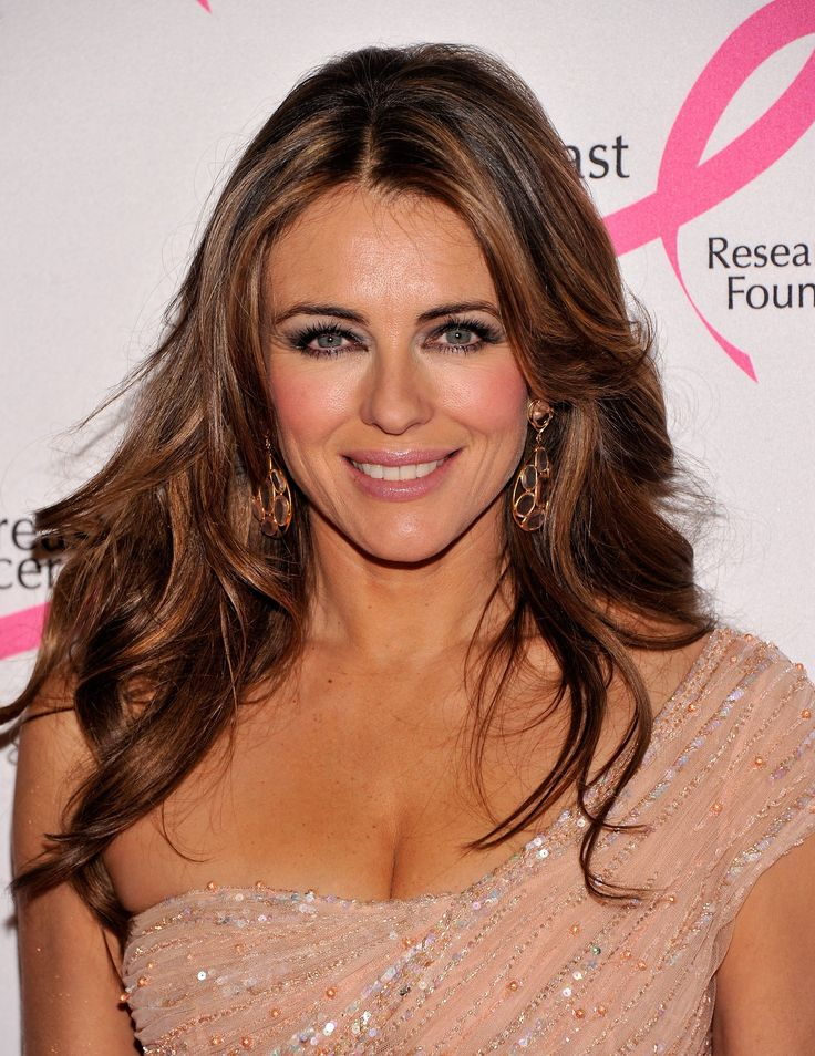 Elizabeth Hurley - perfect hair & make-up.