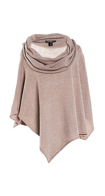Cowl neck poncho sweater