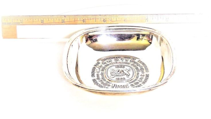 Nestle Sterling 925 Commemorative Chocolate Serving Tray Dish 1866-1966