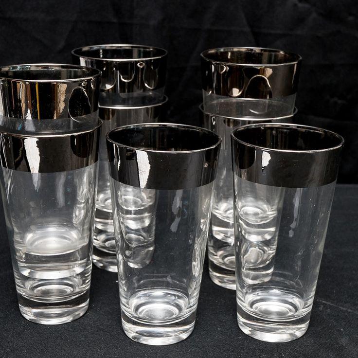 Dorothy Thorpe Allegro Pattern Highball Glasses