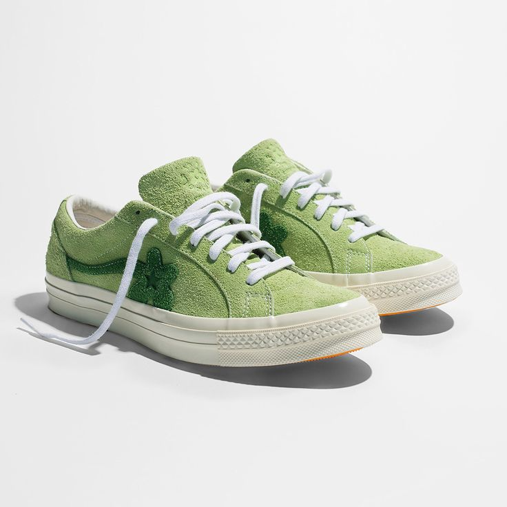 @feliciathegoat times @Converse equals the Golf Le Fleur*. This Jade Green colorway arrives in stores and online tomorrow. Stores: footlocker.com/launch