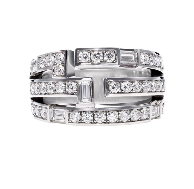 Traffic by Harry Winston, Three Row Diamond Ring