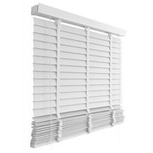 KARWEI horizontale houten jaloezie wit (944) 80 x 130 cm - 50 mm voor de keuken